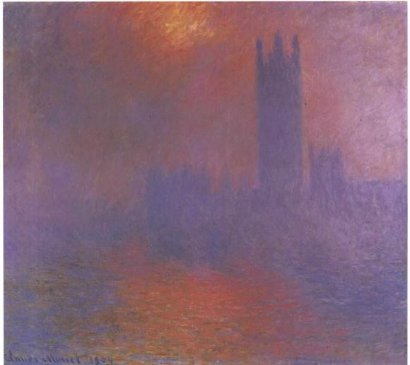 Monet_-_Parlament_in_London_Wolken_verhangene_Sonne