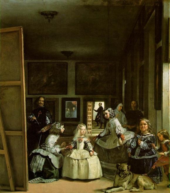 Diego Velázquez: Las Meninas (Selbstporträt mit der königlichen Familie), 1656�1657, Museo del Prado