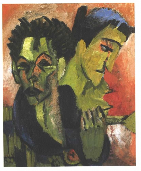 Ernst Ludwig Kirchner: Doppel-Selbstbildnis