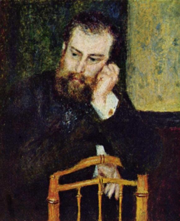 Porträt des Malers Alfred Sisley (1874)