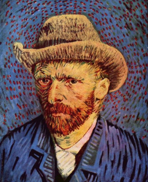 Vincent van Gogh: Selbstporträt mit grauem Filzhut, 1888