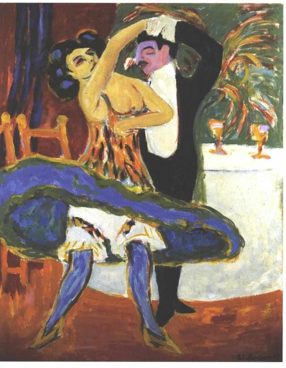 Ernst Ludwig Kirchner: Varieté - Englisches Tanzpaar (1912/1913)