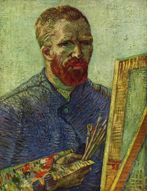 Vincent van Gogh: Selbstporträt vor Staffelei (1888)