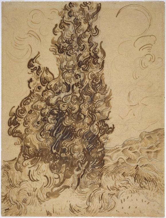 Vincent van Gogh: Cypresses (Les Cyprès), 1889