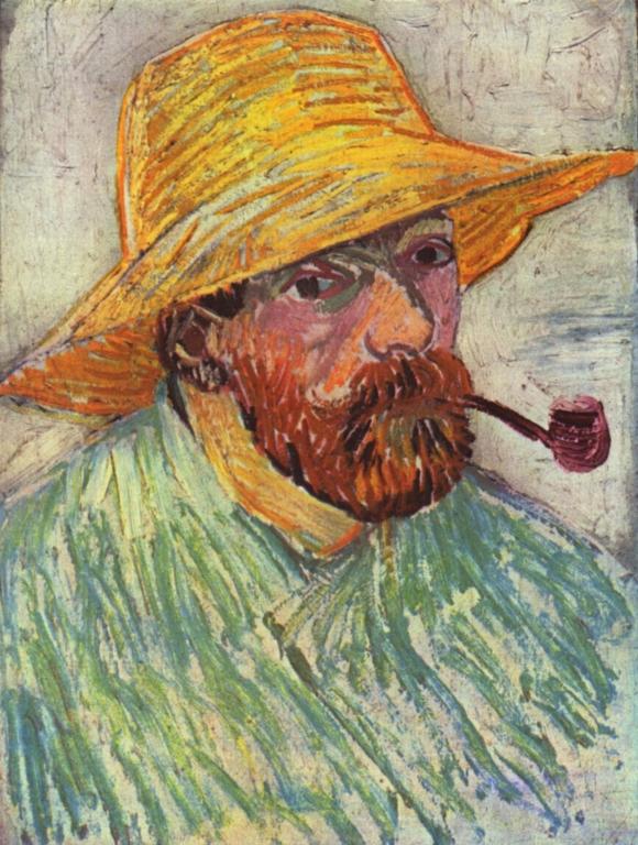 Vincent van Gogh: Selbstbildnis mit Hut und Pfeife, 1888