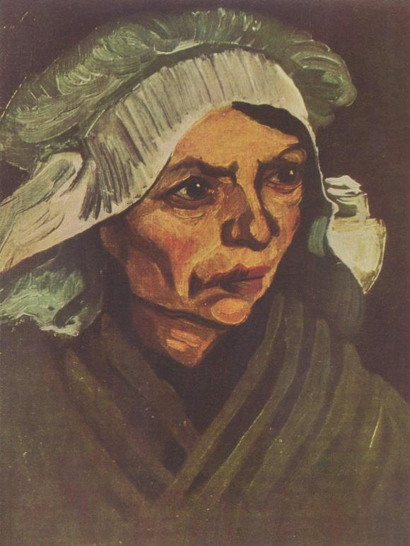 Vincent van Gogh: Porträt einer Bäuerin mit weißer Haube, 1885