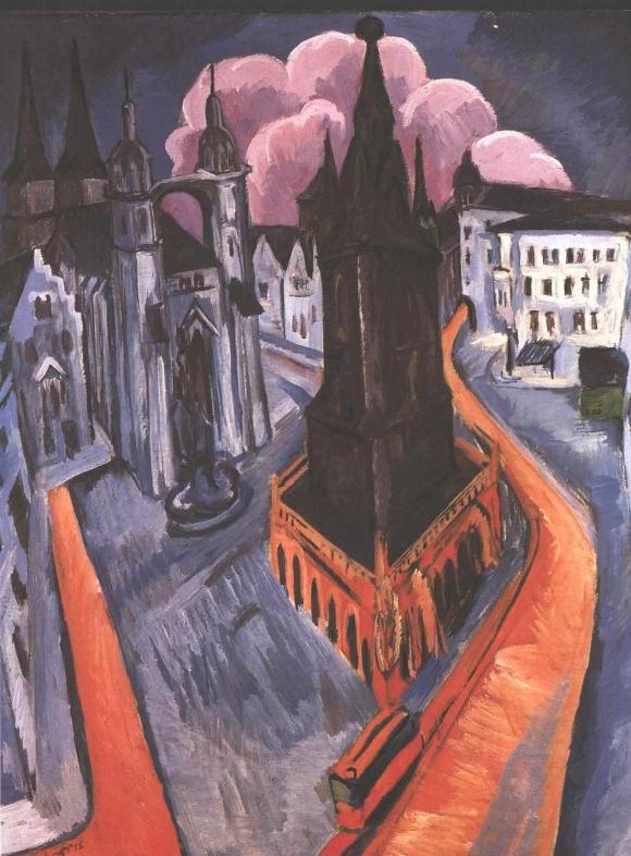 Ernst Ludwig Kirchner: Der rote Turm in Halle (1915)