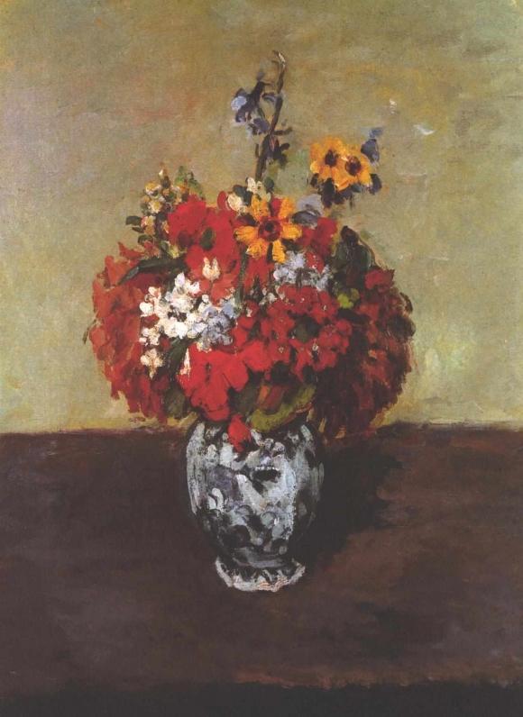 Cezanne_-_Dahlien_in_einer_Delfter_Vase
