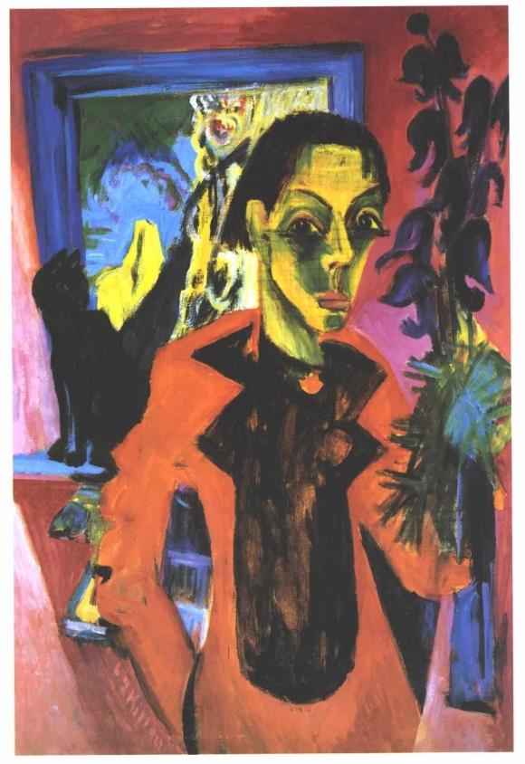 Ernst Ludwig Kirchner: Selbstporträt mit Schatten