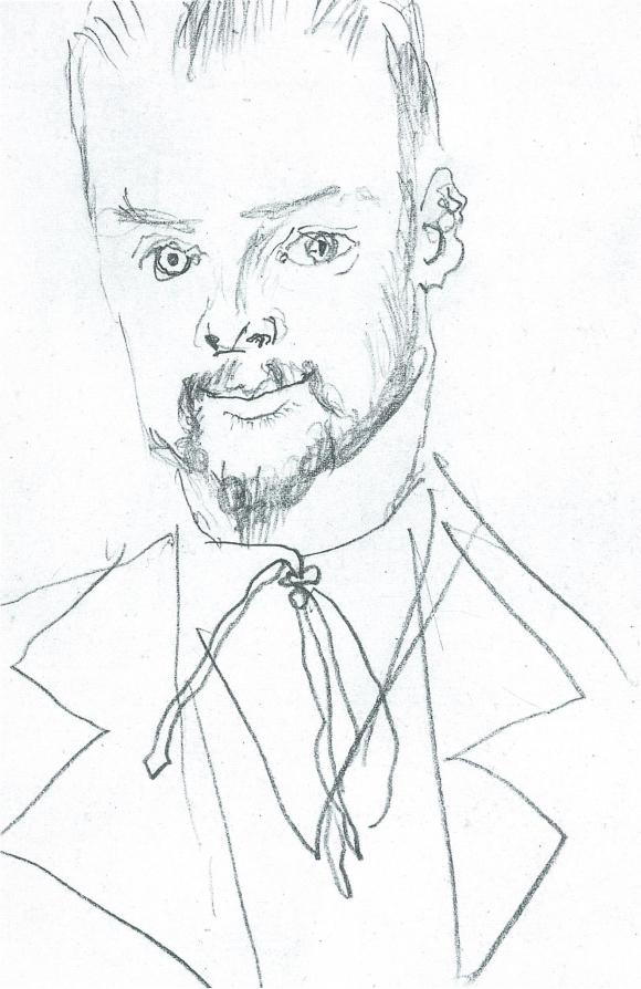 August_Macke,_Zeichnung_Paul_Klee,_1914
