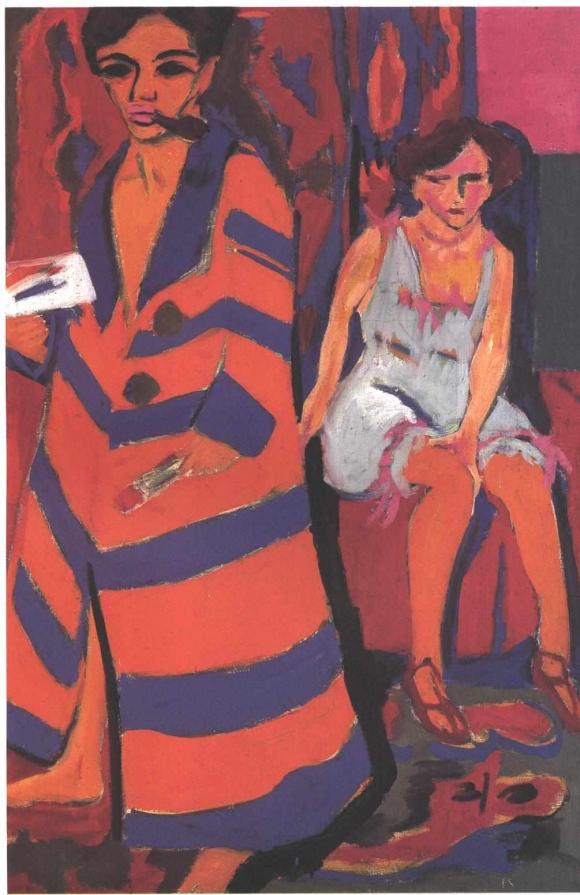 Ernst Ludwig Kirchner: Selbstbildnis mit Modell (1910)