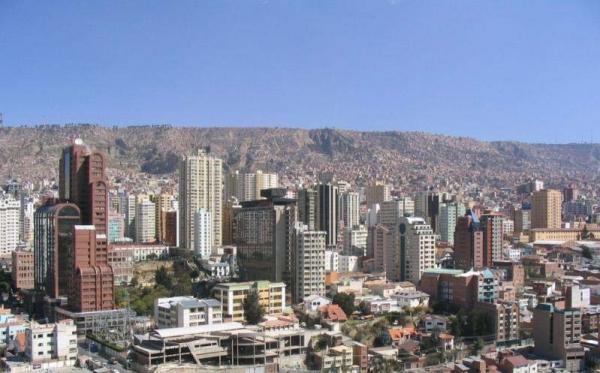 Panorama von La Paz, Bolivien
