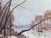 Ufer der Seine im Herbst