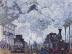 Claude Monet: Bahnhof Saint Lazare in Paris, Ankunft eines Zuges (1877)
