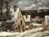 Dorfausgang im Winter