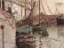 Segelschiffe im wellenbewegtem Wasser (Der Hafen von Triest)