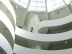 The big rotunda in the Guggenheim Museum