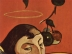 Symbolistisches Selbstporträt mit Heiligenschein