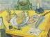 Vincent van Gogh: Stillleben mit Zeichenbrett, Pfeife, Zwiebeln und Siegellack, 1889