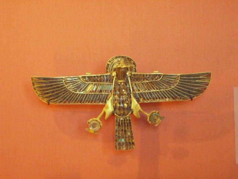 Pectoral trouvé au Sérapéum à Saqqarah sur la momie d´un taureau Apis du règne de Ramsès II - XIXe dynastie égyptienne - Musée du Louvre