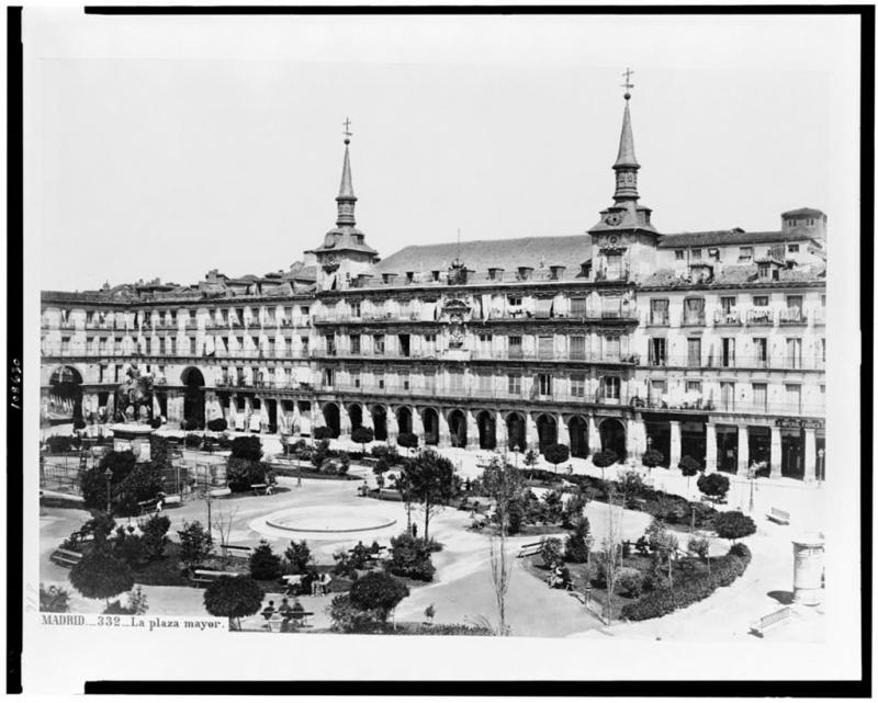 Plaza Major, Madrid (1860-1880)