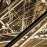 louvre Pyramide (innen bei Nacht)