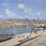 Alfred Sisley: The Beach at Saint-Mammès (1884)