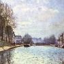 Alfred Sisley: Ansicht des Kanals Saint-Martin in Paris (1870)