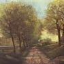 Alfred Sisley: Baumallee bei einem Städtchen (1866)