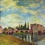 Alfred Sisley: Brücke und Mühle von Moret im Sommer (1888)