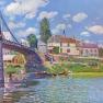 Alfred Sisley: Brücke von Villeneuve-la-Garenne (1872)
