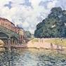Alfred Sisley: Brücke von Hampton Court (1874)