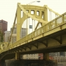 Seventh Street Bridge (aka Andy Warhol Bridge) in Pittsburgh, Pennsylvania, USA.