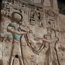 Bas-Relief am Totentempel von Ramses III. in Medinet Habou