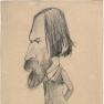 Claude Monet: Darstellung von Auguste Vacquerie (1854)
