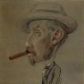 Claude Monet: Man with a Big Cigar (1855-1856)