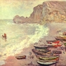Claude Monet: Étretat, der Strand und La Porte d´Amont (1883)