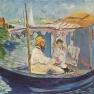 Edouard Manet: Claude Monet in seinem Atelier (Argenteuil)