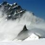 Cloud formation on Jungfraujoch, Bernese Alps