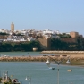 Sicht auf Kasbah des Oudaias, Rabat, Marokko