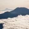 Kilimandscharo aus dem Flugzeug