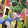 Franz Marc: Kleine Komposition (II) (Haus mit Bäumen)