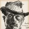 Lovis Corinth Selbstbildnis im Schlapphut 1920