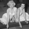 Marilyn Monroe und Jane Russell (1953, Chinese Theater, Los Angeles)