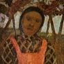 Bauernkind mit rosa Schürze