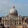 Petersdom in Rom, gesehen vom Dach der Engelsburg
