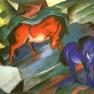 Rotes und Blaues Pferd