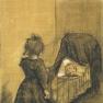 Van_Gogh_1883-03,_The_Hague_-_Girl_Kneeling_by_a_Cradle_F_1024_JH_336