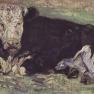 Vincent van Gogh: Liegende Kuh (1883)
