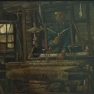 Vincent van Gogh: Weber vor geschlossenem Fenster (1884)